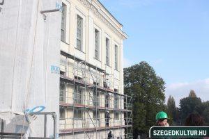 A Móra Múzeum megújult homlokzata